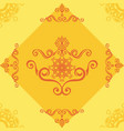 seamless pattern with yellow ornamental decor vector image vector image