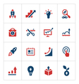 Set color icons of start-up vector image vector image