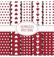 Set of red romantic geometric seamless pattern vector image