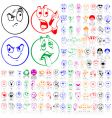 Set of smily faces vector | Price: 1 Credit (USD $1)
