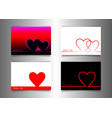 set valentines day minimal line art stile banners vector image vector image
