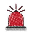 siren firefighters fire vector image