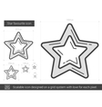 Star favourite line icon vector image vector image