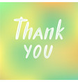 thank you for logotype flyer banner vector image