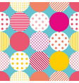tile patchwork pattern with polka dots on pastel vector image vector image