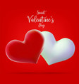 valentine s day concept 3d vector image