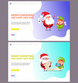 webpage merry christmas and happy new year vector image vector image