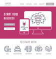 website banner and landing page startup vector image vector image