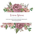 wedding invitation template with beautiful flowers vector image