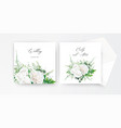 wedding invite invitation card floral design vector image vector image