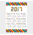 2017 wall calendar from little color bricks eps10 vector image vector image