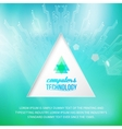 Abstract background with green and blue geometric vector image