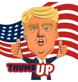 August 04 2016 Donald Trump thumb up cartoon vector image