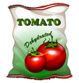 Bag of dehydrated tomatoes