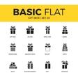 basic set gift box icons vector image vector image
