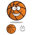Basketball ball cartooned mascot vector image