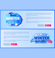 best winter sale 2017 landing page posters vector image
