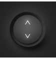 Black button with arrows vector image