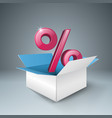 Business infographics percent icon