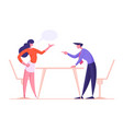 business man and woman characters yelling having vector image vector image