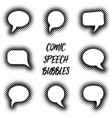 cartoon comic speech bubbles vector image vector image