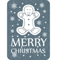 chistmas greeting with cookie grey vector image vector image