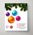 Christmas card with bright and colorful Christmas vector image vector image