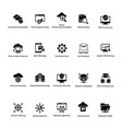 cloud computing glyph icons set 2 vector image vector image