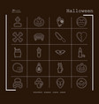 collection of 20 halloween icons in thin line vector image vector image