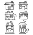 collection of house set doodle vector image vector image