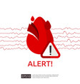 danger heart attack alert symbol heartbeat or vector image