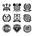 Darts Badges vector image vector image