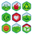 ecology signs and symbols vector image vector image