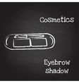 Eyebrow shadow painted with chalk on blackboard vector image vector image