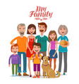 family portrait happy people parents and vector image vector image