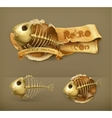 Fish skeleton icon vector image vector image
