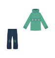 flat shabby denim jeans warm pullover vector image vector image