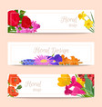 floral set of banners for flower shops or vector image vector image
