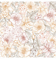 floral tile pattern flower background garden vector image vector image