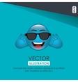 funny emoticon design vector image vector image