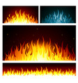 graphic fire flames background vector image vector image