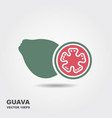 guava fruit icon vector image
