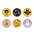 halloween tags set vector image vector image