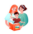 lesbian family cartoon flat vector image vector image