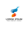 letter s technology logo design concept template vector image vector image