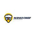 logo mama chef mascot cartoon style vector image