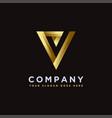 luxury minimalist letter v check mark logo icon vector image vector image
