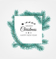 merry christmas and happy new year banner white vector image vector image