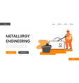 metallurgical heavy industry company website vector image vector image