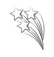 minimalist tattoo boho shooting stars line art vector image vector image